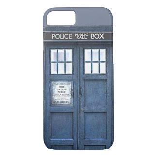 Caja azul pública del iPhone 7 de la caja de Funda iPhone 7