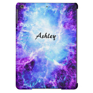 Caja azul púrpura de encargo del aire del iPad de Funda Para iPad Air