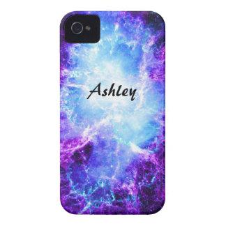 Caja azul púrpura de encargo del iPhone 4 de la Case-Mate iPhone 4 Cobertura