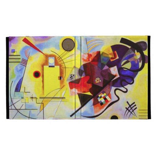 Caja azul roja amarilla del iPad 3 de Kandinsky