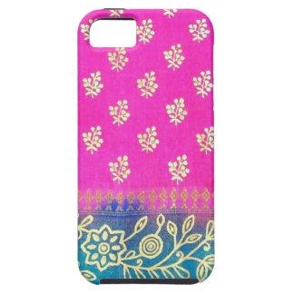 Caja azul rosada del iPhone 5 de la sari del oro iPhone 5 Case-Mate Protector