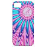 Caja azul rosada del iPhone 5 del teñido anudado d iPhone 5 Protector