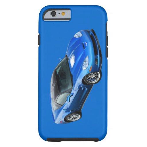 Caja azul supersónica del iPhone 6 del Corvette Funda De iPhone 6 Tough