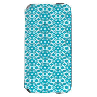 Caja azul tropical del folio del teléfono del funda billetera para iPhone 6 watson