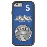 Caja azul Xtreme del iPhone 6 del voleibol duro Funda Para iPhone 6 Tough Xtreme
