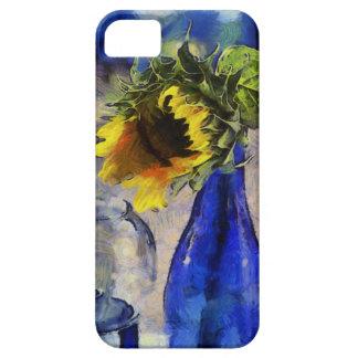 Caja azul y amarilla del iPhone 5 del girasol iPhone 5 Carcasas