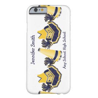 Caja azul y amarilla del iPhone que anima 6 Funda De iPhone 6 Barely There