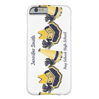 Caja azul y amarilla del iPhone que anima 6 Funda Barely There iPhone 6
