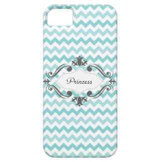 Caja azul y blanca de Chevron IPhone iPhone 5 Protector
