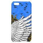 Caja azul y negra del iPhone 4 del damasco del ala