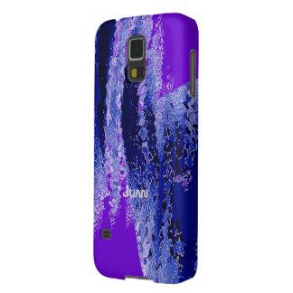 Caja azul y púrpura de la galaxia s5 de Samsung Fundas Para Galaxy S5