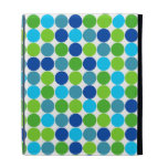 Caja azul y verde del folio del iPad del modelo de