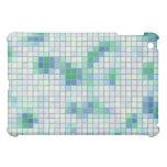 Caja azul y verde del iPad del mosaico