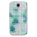 Caja azul y verde del iPhone 3G del mosaico