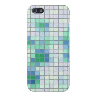 Caja azul y verde del iPhone 4 del mosaico iPhone 5 Cárcasa