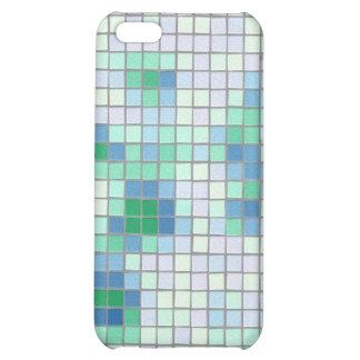 Caja azul y verde del iPhone 4 del mosaico