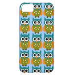 Caja azul y verde del iPhone de los búhos