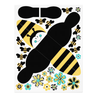 """Caja B del favor de la abeja del cumpleaños Folleto 8.5"""" X 11"""""""