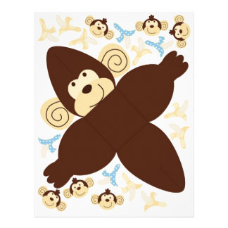 "Caja B del favor del mono de la MOD Folleto 8.5"" X 11"""