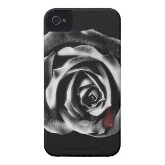 Caja balckberry subió negro gótico del teléfono de