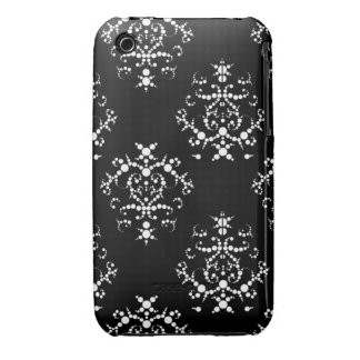 Caja barroca blanco y negro del iPhone 3/3GS iPhone 3 Carcasa