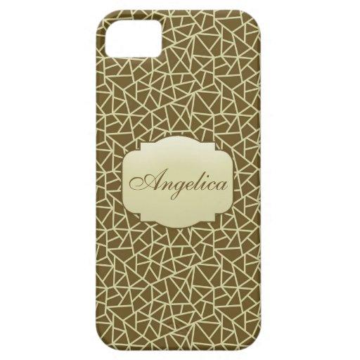 Caja beige conocida elegante del iPhone 5/5S del m iPhone 5 Case-Mate Coberturas