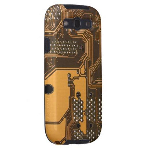 Caja beige de la galaxia S3 de la textura 2 de la  Galaxy S3 Protector