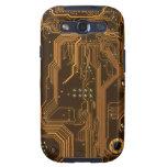 Caja beige de la galaxia S3 de la textura 3 de la  Samsung Galaxy S3 Cárcasa