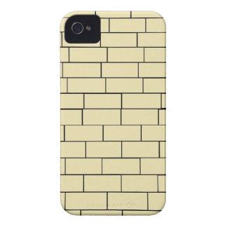Caja beige del iPhone 4 de la pared de ladrillo iPhone 4 Protectores