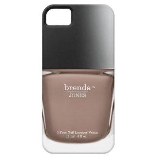 Caja beige del iPhone de la botella del esmalte de iPhone 5 Fundas