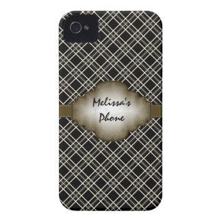 Caja beige del teléfono de Blackberry de la tela Case-Mate iPhone 4 Carcasas