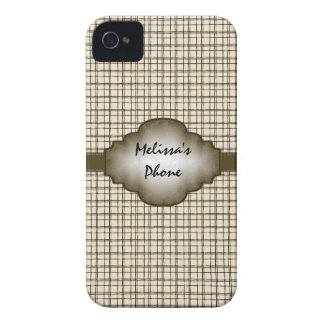 Caja beige del teléfono de Blackberry de la tela Case-Mate iPhone 4 Protector
