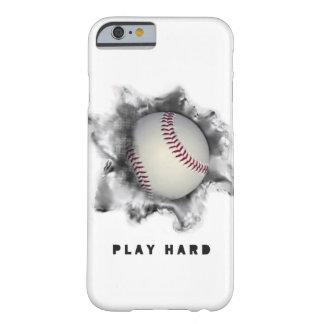 caja béisbol-temática del teléfono funda para iPhone 6 barely there