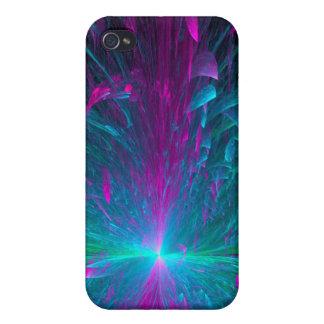 Caja binaria azul de Iphone de la flor iPhone 4 Cobertura