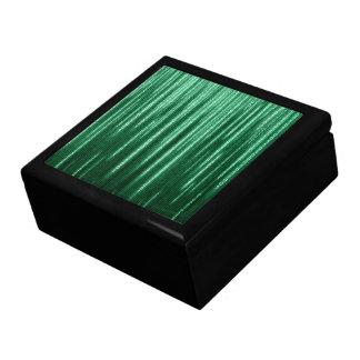Caja binaria verde de la baratija de la lluvia joyero cuadrado grande