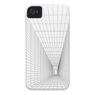 caja blanca abstracta del iPhone del arte v1 Funda Para iPhone 4 De Case-Mate