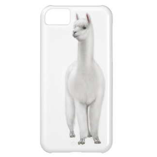 Caja blanca alerta del iPhone de la alpaca Funda Para iPhone 5C