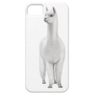 Caja blanca alerta del iPhone de la alpaca iPhone 5 Carcasas