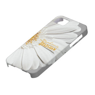 Caja blanca amarilla del iPhone 5 de la margarita  iPhone 5 Cárcasa
