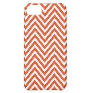 Caja blanca anaranjada del iPhone 5 del zigzag de