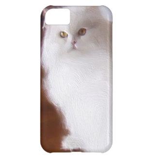Caja blanca Barely There del iPhone 5 del gato per