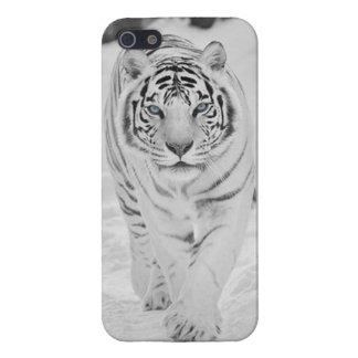 Caja blanca de Iphone 5/5S del tigre iPhone 5 Funda