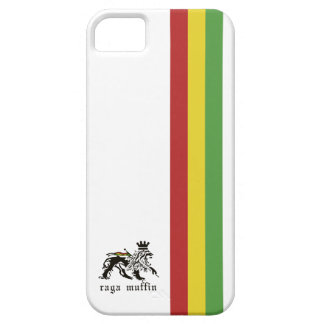 Caja blanca de Iphone 5 de la raya de Rasta iPhone 5 Fundas