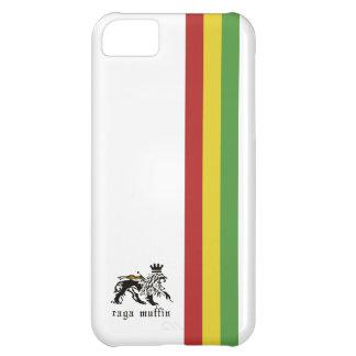 Caja blanca de Iphone 5 de la raya de Rasta Funda Para iPhone 5C