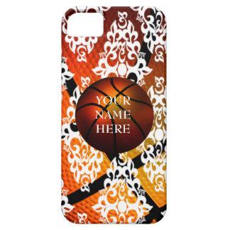 Caja blanca de Iphone 5 del baloncesto del damasco iPhone 5 Carcasa
