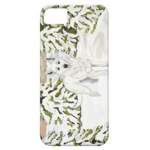 Caja blanca de Iphone de la nieve del invierno del iPhone 5 Funda