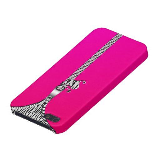Caja blanca de la cremallera Iphone5 del tigre iPhone 5 Protector