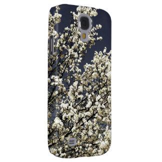 Caja blanca de la galaxia S4 de las flores de cere