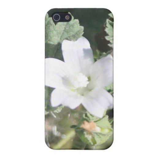 Caja blanca de la mota de Iphone 4/4s del Wildflow iPhone 5 Cárcasas