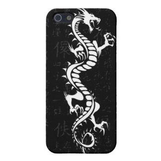 Caja blanca de la mota del iPhone 4/4S del dragón iPhone 5 Carcasas